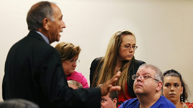 Leanna Harris, wife of Justin Harris (Photo from AP)