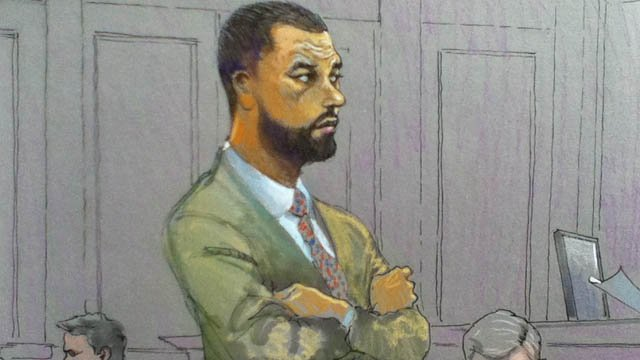 A courtroom sketch of 'Real Housewives of Atlanta' husband Apollo Nida as he is sentenced.
