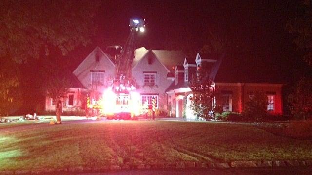 Firefighters were on the scene on Stella Drive in Sandy Springs.