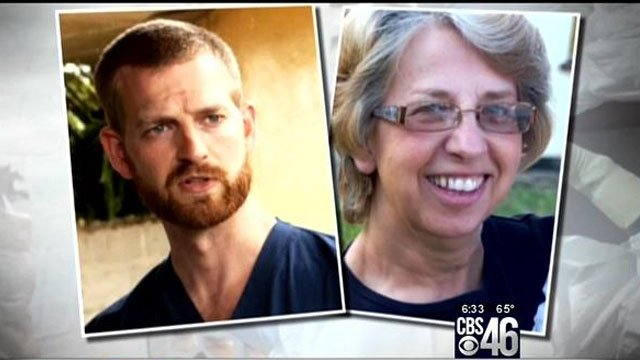 Dr. Kent Brantly (Left),  Nancy Writebol (Right)