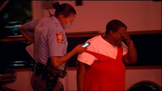 Grandmother reacts after child shoots self in face.