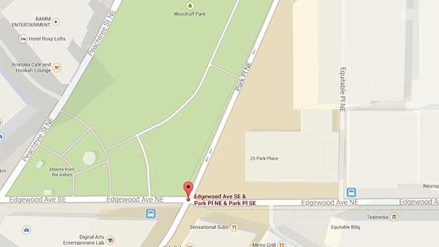 Google Map of Woodruff Park