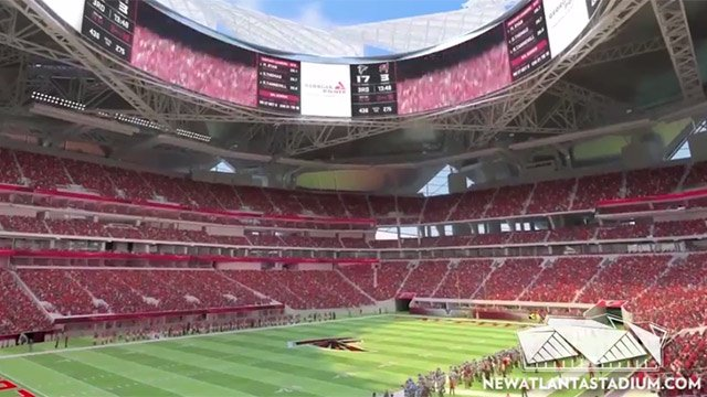 Video released tuesday shows fly through of new falcons for Will call mercedes benz stadium