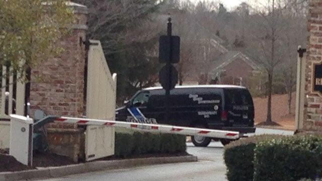 A CSI van leaving the scene of Bobbi Kristina's residence.