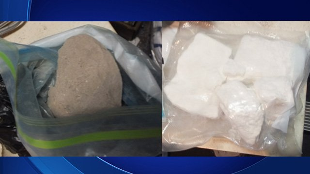 Some of the drugs seized in a Gwinnett County raid.