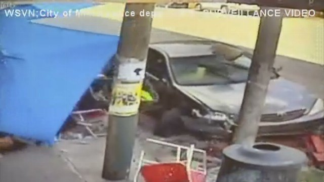 a driver plowed into a group of diners eating at an