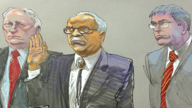 Courtroom sketch of Tyrone Brooks during his April 2015 trial. (Source: WGCL)