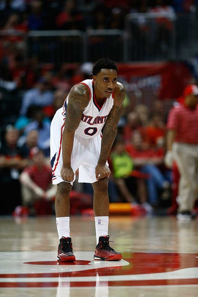 Jeff Teague in Tuesday's win. (Photo from AP)