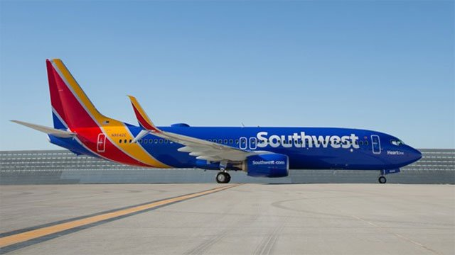 File photo of Southwest Airlines plane (Source: Southwest)