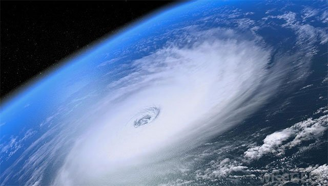 File satellite photo of a hurricane (Source: NOAA)
