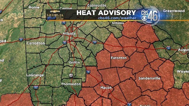 Local heat advisories