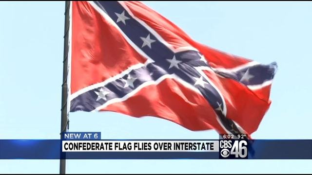 very big confederate flag to stay above i 75 cbs46 news