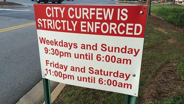 curfew and teens