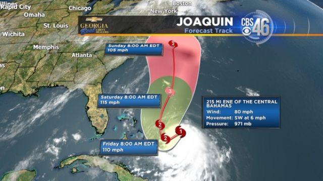 Joaquin forecast track