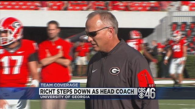 UGA head coach Mark Richt out following