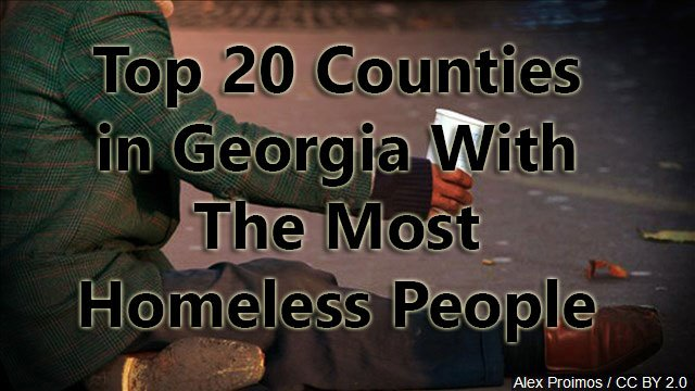 Gas Prices Map >> Top 20 Counties in Georgia With Most Homeless People ...
