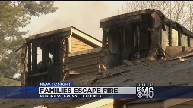 Fire erupts at Norcross apartment complex