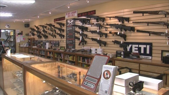 Thieves stole 30 guns from a gun shop in Covington in 2016. | SOURCE: WGCL