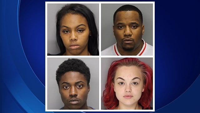 Clockwise: Kamari Bolden, Douglas White, Kenneth Thomas and Laura Waugh (Source: Marietta Police)